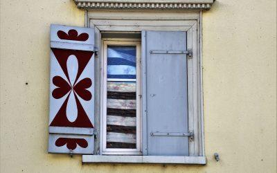 La beauté des volets de fenêtre
